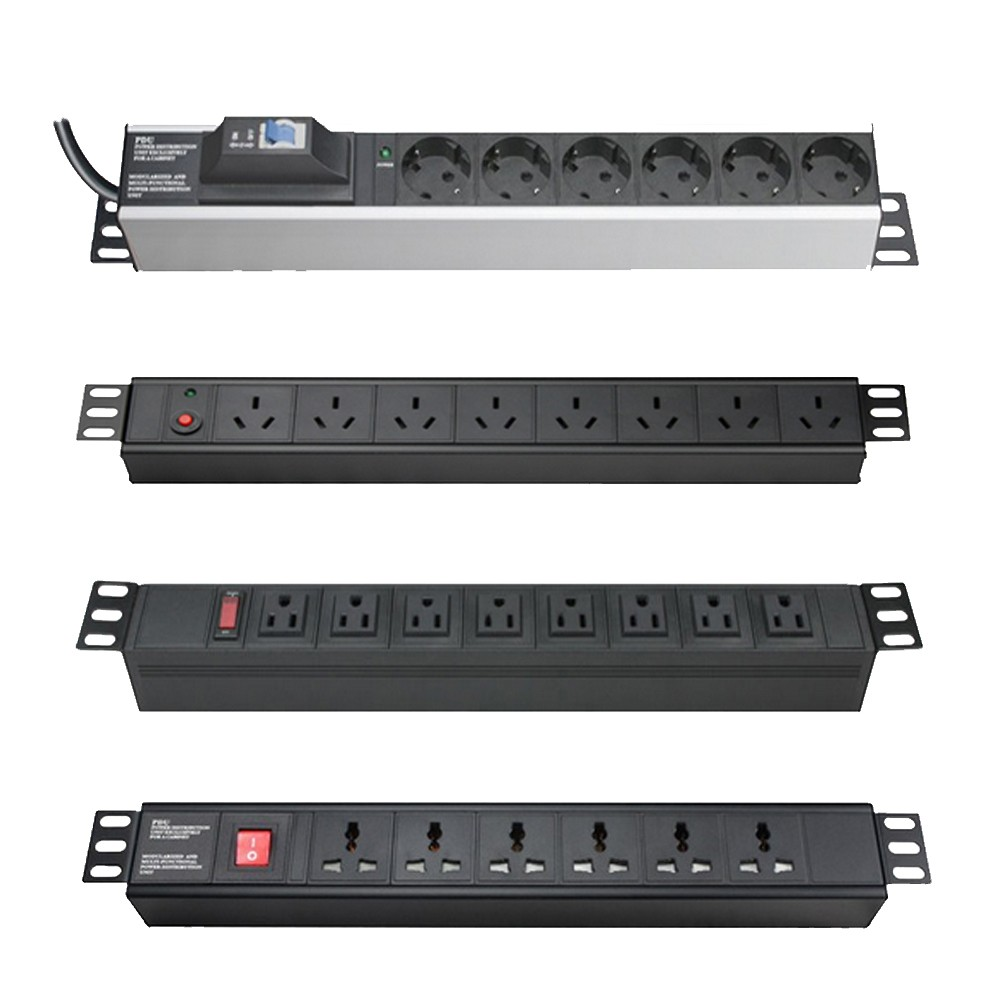 low price 6 port 19 inch UK 45 degree PDU power distribution unit