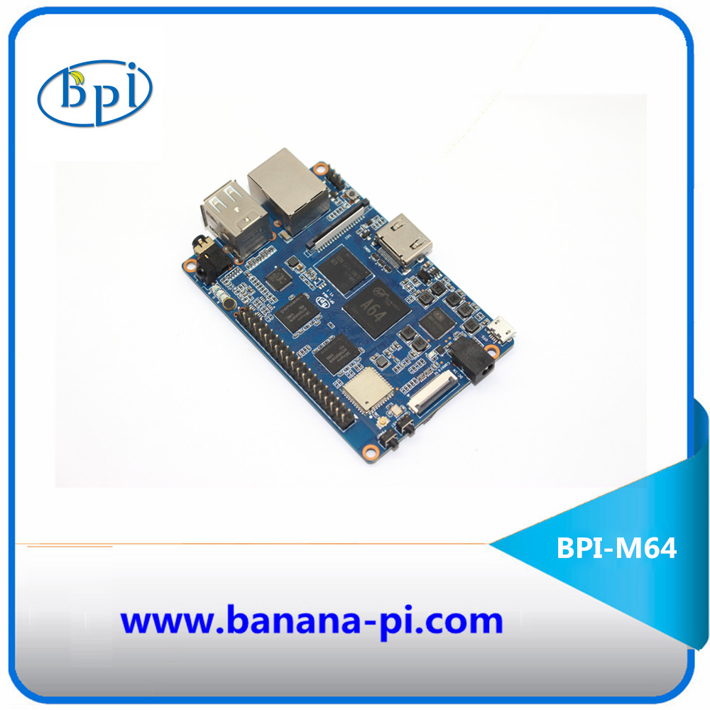 The banana pi BPI-M64 support WIFI+BT on board powerful than respberry pi