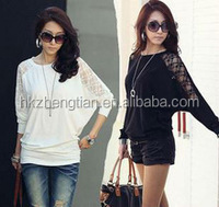 Instyles 2013 NEW SUMMER COTTON LOOSE BATWING SLEEE BLOUSE FOR WOMEN T-SHIRT boutique clothing Clothing