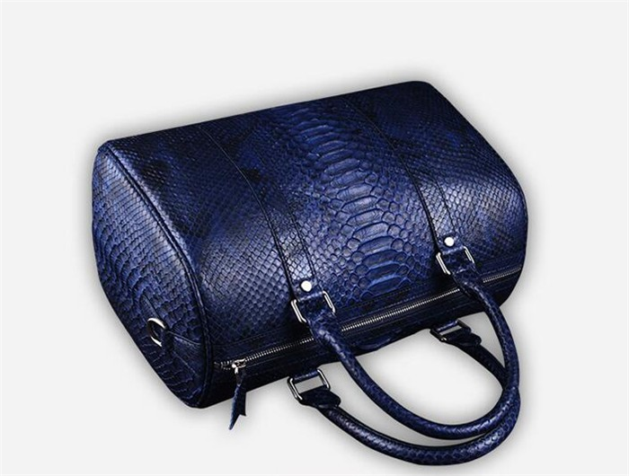 OEM Men's High End Real Python Snakeskin Leather Travel Duffle Bag for Clothes Storage_9