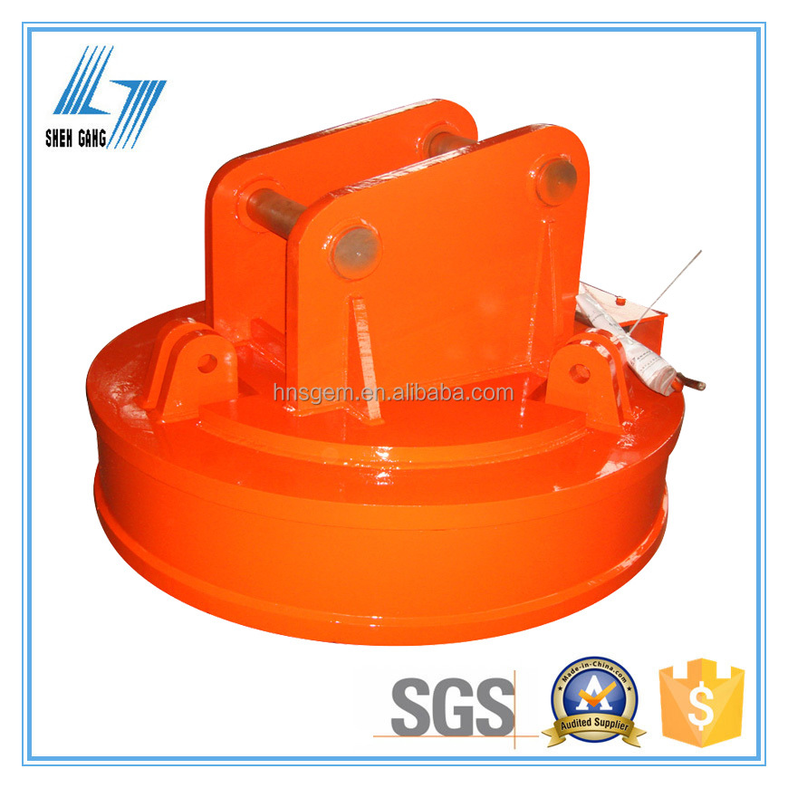 Round Lifting Electromagnet for Excavator to Transport Scraps