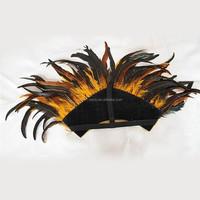 2016 women kids masquerade mask peacock american indian feather headdress for halloween