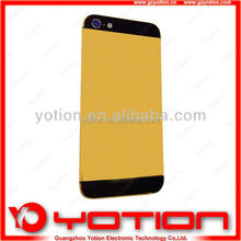 Top quality for iphone 5 24k gold plating back cover