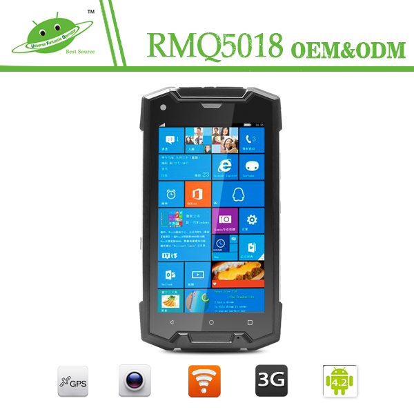4g lte Win10 rugged smartphone with 1280*720 dual sim quad core IP68 NFC WIFI GPS 3G phone