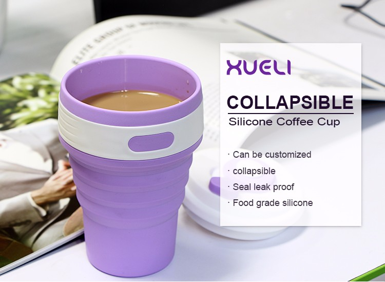 new eco-friendly tableware unbreakable water drinking coffee silicone cup
