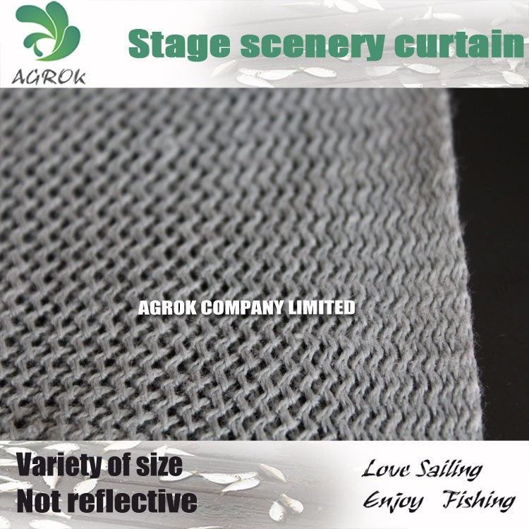 1.5m Cotton Polyester Blend High Density Stage Scenery Cloth/Curtain
