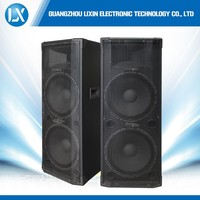 "Dual 15"" bass professional hi-fi passive speaker with horn tweeter"