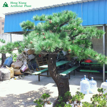 Factory price artificial big trunk decorative pine trees