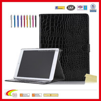 Luxury Crocodile Pattern PU Leather Case for apple ipad 6