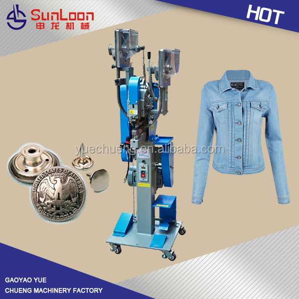 Hot new quality printed jeans button machine