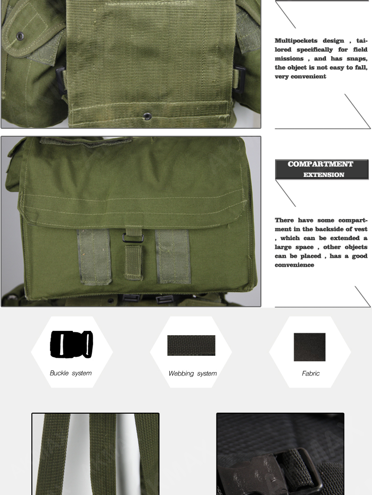 Classic Plce Tactical Vest With Multi Functional Pouch