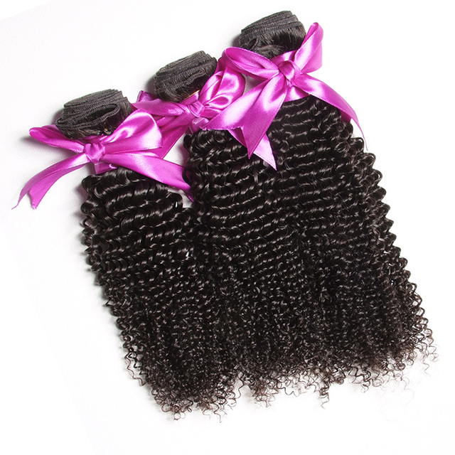 malaysian afro kinky curl sew in hair weave double drawn weft