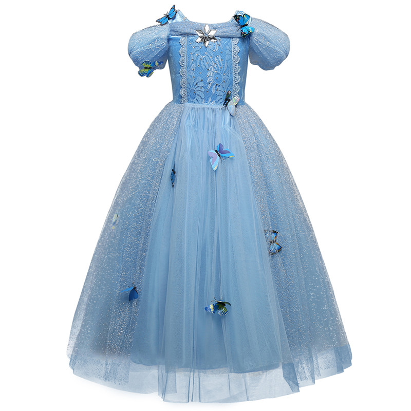 Cinderella Princess Dress for Girl Wear Halloween Sleeping Beauty Christmas Costume Girls Clothes Fancy Dresses Party Teenage