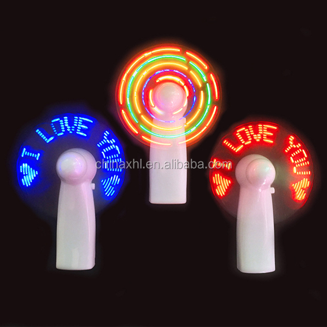 Customized message mini diy electric hand led fan