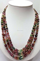 #SZZ Natural Plain Tumble Bead Necklace Top Quality Tourmaline Necklace
