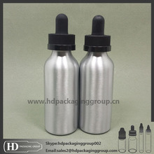 HD Customize sticker can be provided aluminum dropper bottle with childproof cap