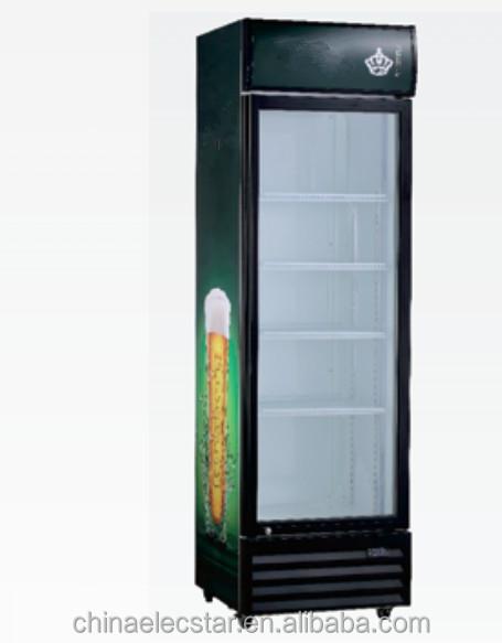 Single glass door upright display fridge chiller display for 1 door display chiller
