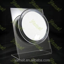 Factory Wholesale fancy acrylic make up mirror popular desk mirror with logo