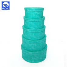 Customized green round cardboard storage paper card box with lid
