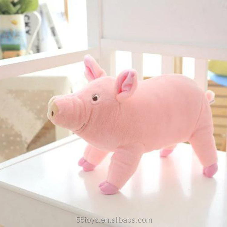Lifelike lovely plush pig toys stuffed plush pink pig toy