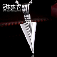 BEIER stainless steel jewelry arrowhead pendant men personality wholesale jewelry BR-P006
