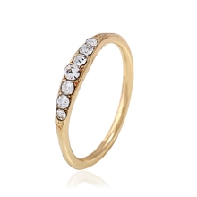 Bulk Wholesale Gold Platinum Rose Gold Plated Alloy Rings Women Jewelry New Fashion Pave Crystal Ring