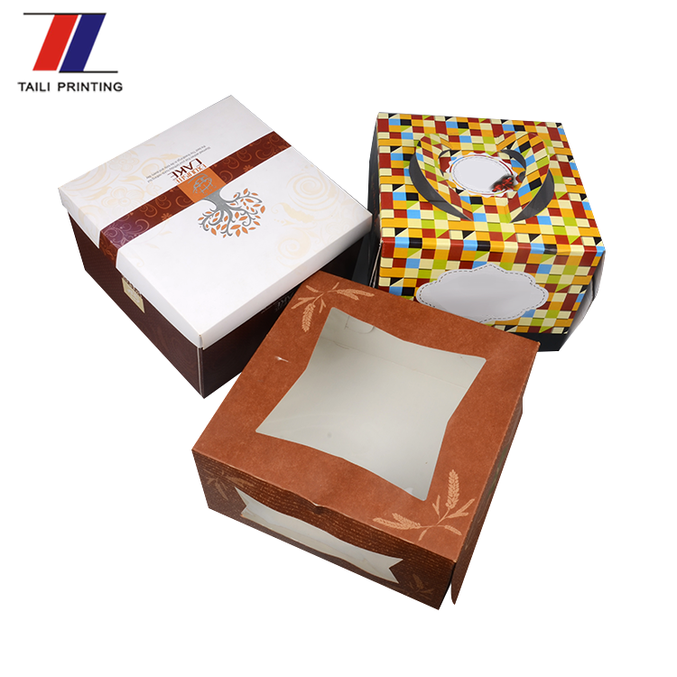 Printed paper cake boxes wholesale,custom paper wedding cake boxes