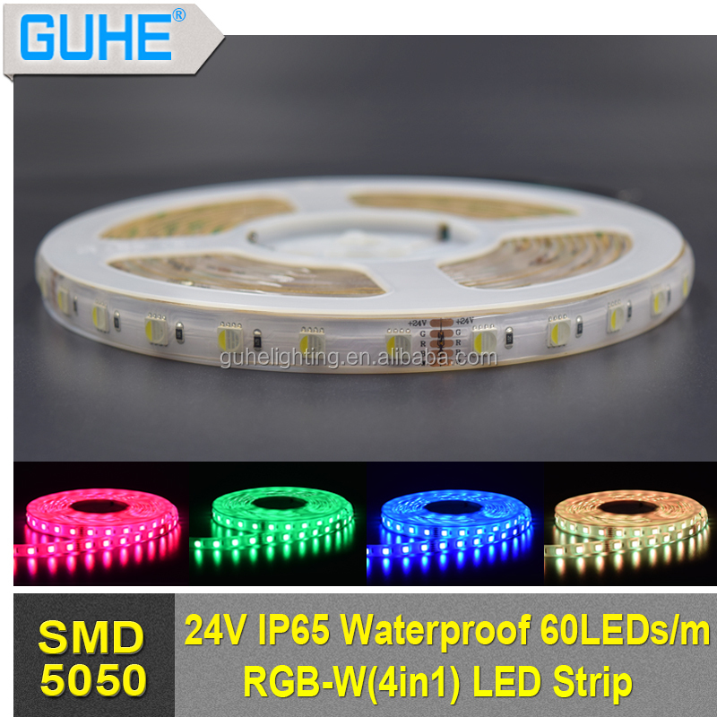 Fast connect 12V/ 24V 5050 RGBW 4 in 1 flexible led strip light