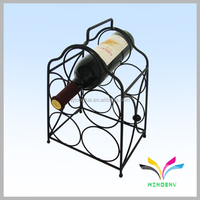 Customized good quality metal wine storage rack glass rack