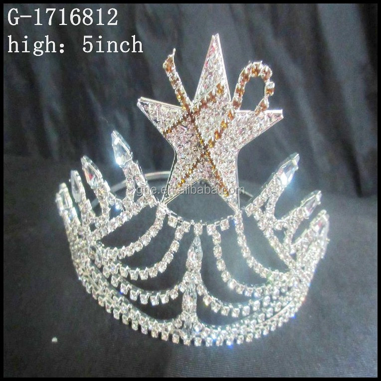 Wholesale Pageant Crowns tiara gold bridal crown Holiday crown