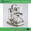 Stainless steel cruet holder oil and vinegar spray