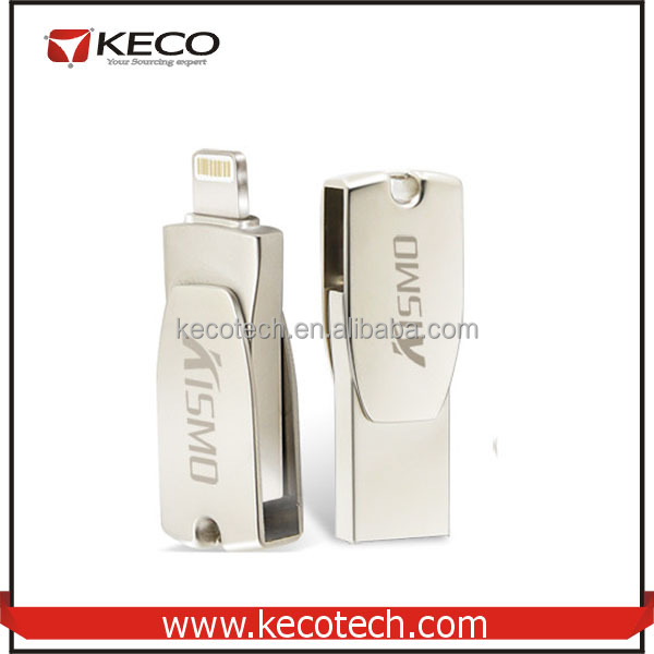 Factory Price OTG USB 2.0 Flash Drive For iPhone, For iPhone/iPad/PC Mini Metal USB Flash Drive 16G-128G Large Capacity