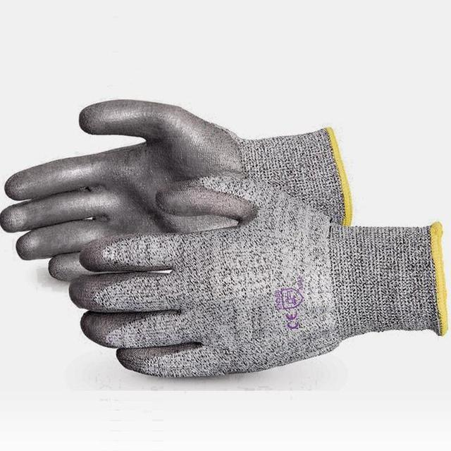 Cheap Winter Warm Gloves PU Palm Coated Cut Resistant Glove for Industrial Work