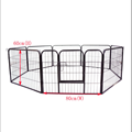 metel black pet cage guinea pig dog puppy playpen play house steel hutch