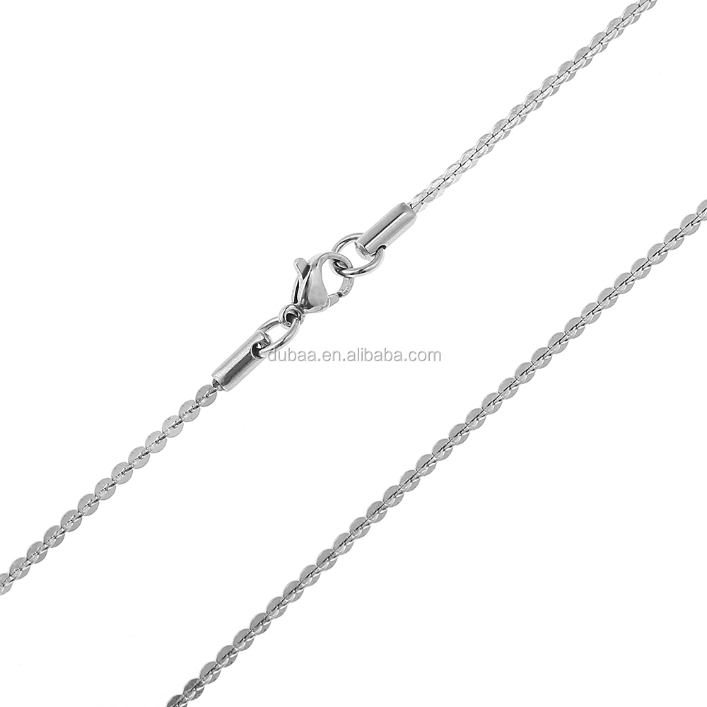 Stainless Steel Fine Cable Chain Necklace Chains Bulk for Jewelry Making