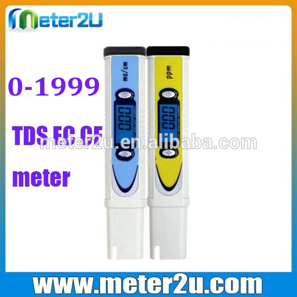High accuracy TDS/EC/CF meter Large LCD display ph meter