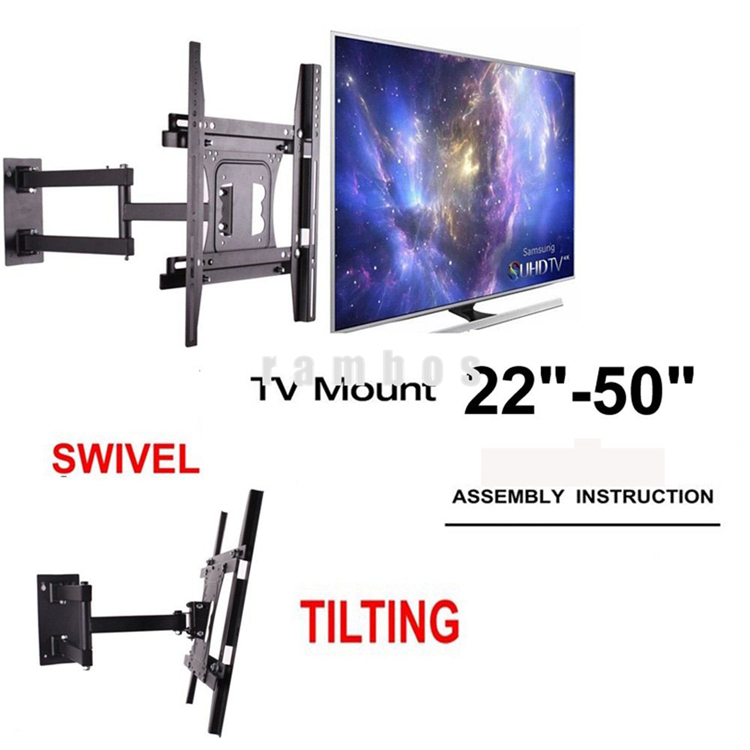 "22""-50"" VESA Adjustable Arms Swivel LCD TV Wall Mount Bracket for Hisense for Digihome"