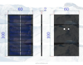 PET laminated mini solar panel 0.7W 5.5V