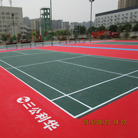 Synthetic Interlocking Indoor Badminton Court Floor
