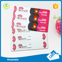 Perforation 3 pins paper recharge card