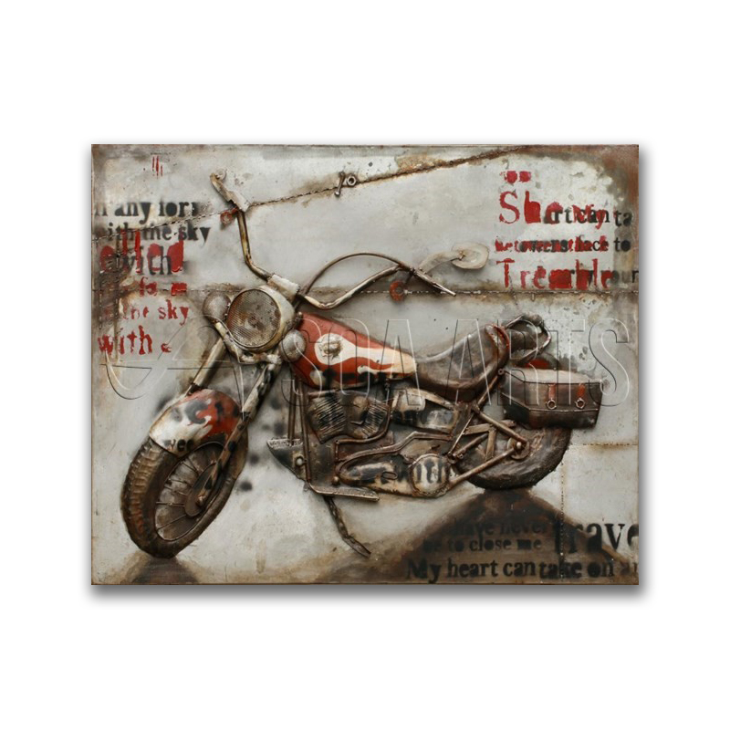 Motorcycle Metal Wall Art For Room Decor - Buy Motocycle Painting ...