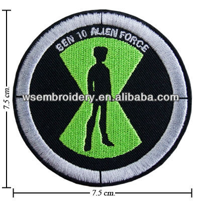 Alien force logo embroidered round emblem patch