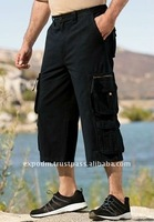 19 inch Extra-Long Judo Cargo Shorts in Twill or Denim