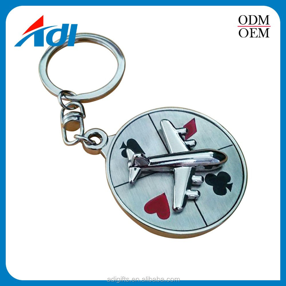 custom high quailty metal design 3d logo personalized keychains