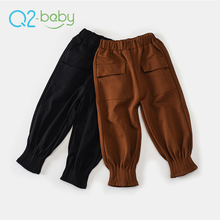 Q2-baby Factory Direct China Lovely Ruffle Kids Harem Trousers Pants With Two Pockets