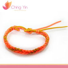 Trendy Fashion Baby Girls' Jewelry PU Leather Braided Elastic Bracelet