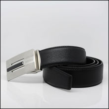 M129 Black fashion leather belt process manufacturing
