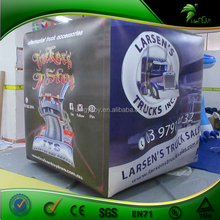 2016 New Design Branded Advertising Helium Balloon / Square PVC Inflatable Cube / Inflatable Buoys Cube For Advertising