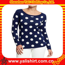 OEM fashion comfortable casual dot print hot cotton brand clothing for women