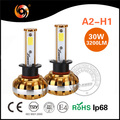 Auto led car headlight conversion kit H1 30W 3200lm IP68 high canbus driver non-polarity